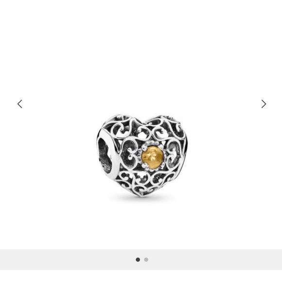 Pandora Jewelry - 💛November Signature Heart Charm